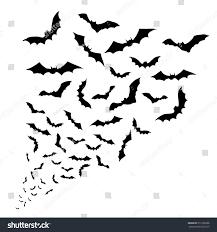 halloween bat no background swarm bats on white background stock vector 313196306 shutterstock