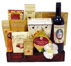 Gift Baskets With Wine Family Pairings Wine Gift Basket By Pompei Baskets