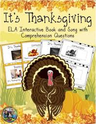 thanksgiving present interactive book and song with comprehension