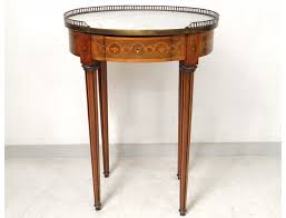Greek Pedestal Small Table Louis Xvi Oval Pedestal Table Inlaid Marble Frieze