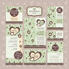 Wedding Invitations With Menu Cards Set Of Wedding Invitations Thank You Cards Table Card And Menu