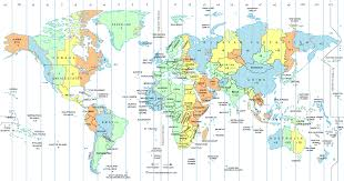 World Map Usa by Ontimezonecom Time Zones For The Usa And North America Usa Time