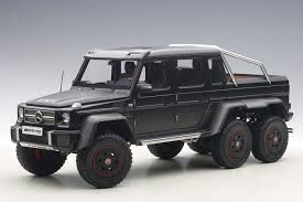 mercedes pickup truck 6x6 highly detailed autoart black composite mercedes benz g63 amg 6x6