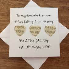 personalised 1st wedding anniversary card handmade