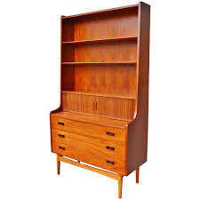 Secretary Desk With Drawers by Hot Børge Mogensen Teak And Oak Secretary Desk With Bookcase At