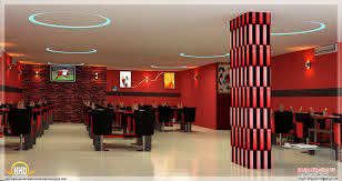 red modern restaurant design which has a great interior design and