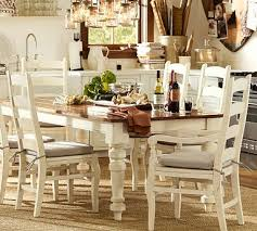 Dining Tables Pottery Barn Style Keaton Extending Dining Table In French White From Pottery Barn