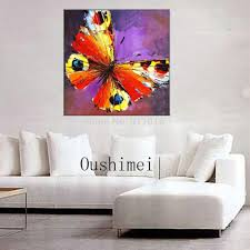 handmade palette knife oil painting abstract painting home handmade palette knife oil painting abstract painting home decoration butterfly pictures animals mural canvas wall art