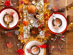 thanksgiving day table settings celebrate busy loccie