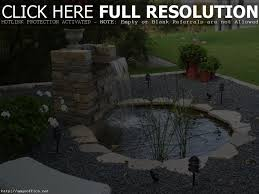 backyard pond ideas with waterfall home design ideas