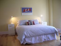 bedroom ikea striped bedding brick area rugs table lamps ikea