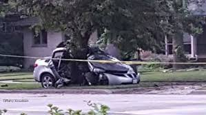 racine police 2 dead after speeding vehicle slammed into tree at