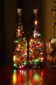 cool indoor christmas lights set of 2 amber wine bottle lights night light christmas light