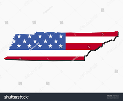 Map Of Tennesse Map Tennessee American Flag Illustration Stock Vector 34810825