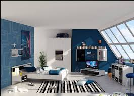 bedroom astonishing gorgeous blue accent design sport themed