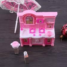 barbie dining room set dollhouse kitchen simulation furniture set dining table cabinet for