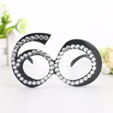 diamond party supplies funny no 60th crystal diamond decorated glasses novelty mask for