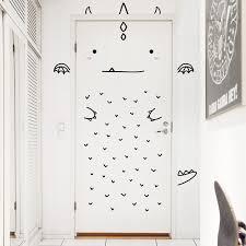 stickers pour chambre d enfant pour décorer une porte bien triste voici de simples stickers