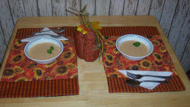 how to make reversible place mats sewing for the fall autumn