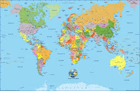 World Map Us creative high definition world map safety equipment us