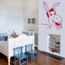 wonderful shrek donkey wall art decal vinyl sticker wall stickers shrek donkey near bed wall art decal vinyl sticker