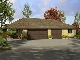 Garage With Carport Garage Plans With Carport Three Car Garage Plan With Carport And