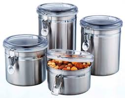kitchen stainless steel canisters team galatea homes stylish