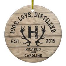 Personalized Wedding Ornament Rustic Ornaments U0026 Keepsake Ornaments Zazzle