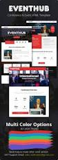event hub conference u0026 event html template by zedwebthemes