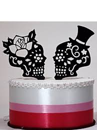skull wedding cake toppers day of the dead skulls wedding cake topper silhouette lasered