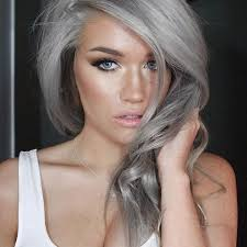 grey hairstyles for young women granny hair trend why young women are dyeing their hair gray