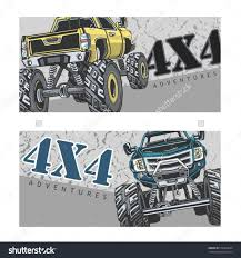 bigfoot monster trucks shutterstock stock bigfoot monster truck cartoon vector