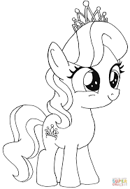 diamond tiara my little pony coloring page free printable