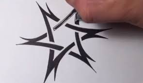 drawing a tribal star of david tattoo design quick sketch youtube