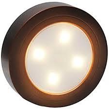 stick on lights for closets amazon com cozlane tap light led coreless push puck night light