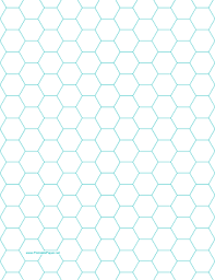this letter sized hexagon graph paper is spaced with hexagons half
