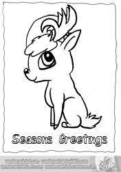 cartoon reindeer coloring echo u0027s reindeer cartoon