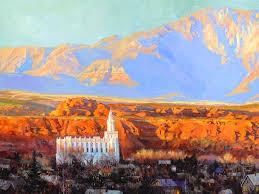 The Blind Man St George Utah Jeremy Winborg Art Original Oil Paintings