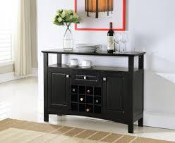 decor modern small black buffet credenza design idea