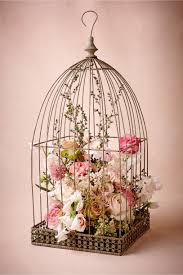 Bridal Shower Centerpiece Ideas by Birdcage With Flowers Botanical Bridal Shower Centerpiece Bbat