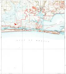 Eglin Afb Map Download Topographic Map In Area Of Fort Walton Beach Wright