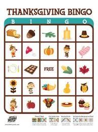 thanksgiving bingo cards printable printable cards