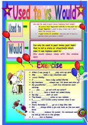 used to and would worksheet the best and most comprehensive