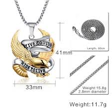2015 men s jewelry 8mm 60cm new arrival 2016 maxi necklace collier collares fashion eagle pendants live to