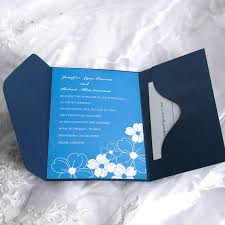wedding invitations blue blue and white vision pocket wedding invitation ukps042 ukps042