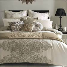Cream And Black Comforter Bedroom Design With White Down Comforter Feat Black Wooden