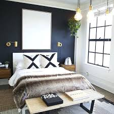 home interior app navy blue accent wall bedroom modern bedroom with a accent wall