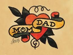 mom dad banner nice heart tattoo sketch golfian com
