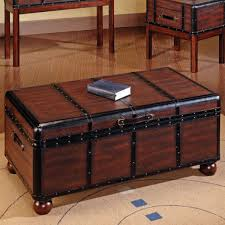 furniture simple brown wood rectangle coffee table with storage