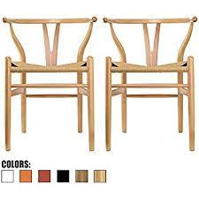 Woven Dining Room Chairs Amazon Com Baxton Studio Wood Wishbone Y Chair Black Chairs